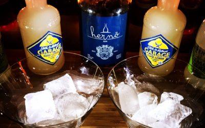 Test Garage Hard Lemon med Hernö Gin - drink Tom Collins